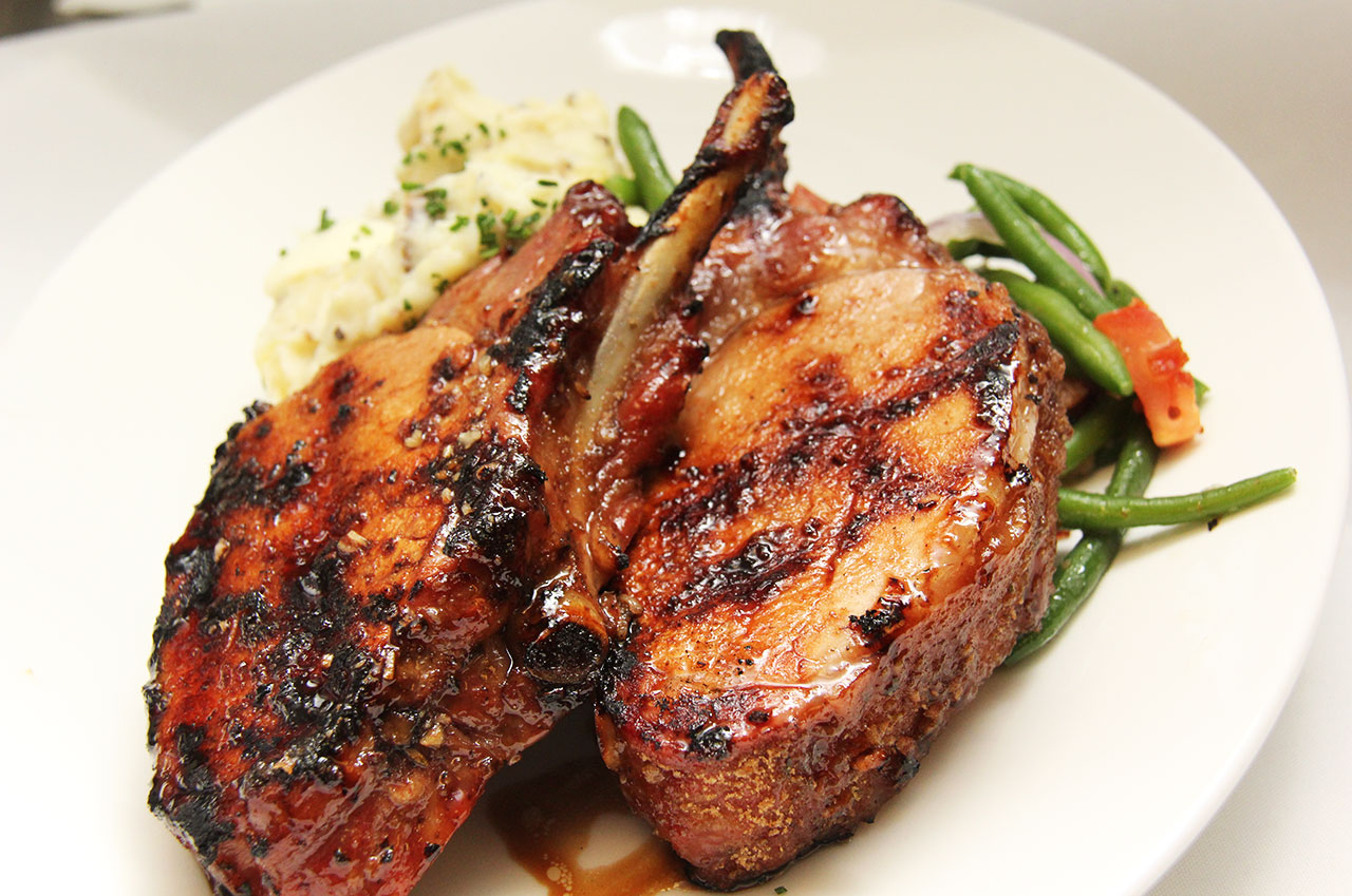 Tropical Grilled Pork Chops Recipe — Dishmaps